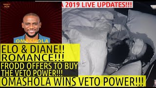 BBNaija 2019 LIVE UPDATES | OMASHOLA WINS VETO POWER | FRODD OFFERS TO BUY VETO POWER | TACHA KHAFI