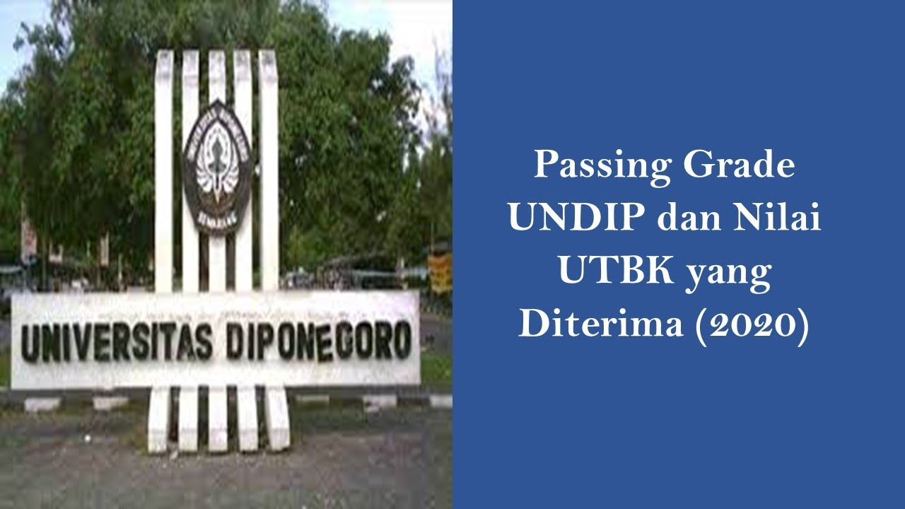 Passing Grade UNDIP dan Nilai UTBK yang Diterima 2020 ...