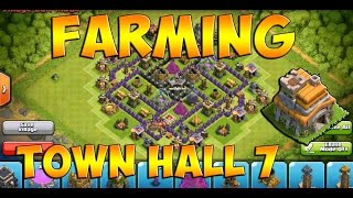 Clash Of Clans - Best Town Hall 7 Farming Base W/ Dark Elixir Drill (after Christmas Update)