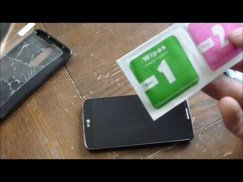 Replacing a tempered glass screen protector on my LG G2