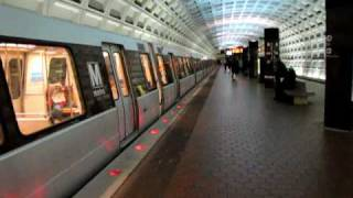 WMATA CAF train departing Stadium-Armory station