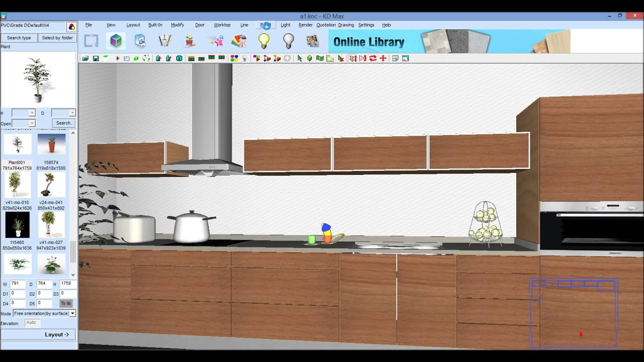 Armario cozinha sketchup v rios desenhos for Software armarios