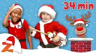 Kids Christmas Party 🎅🏽🎄Deck the Halls & more Nursery Rhymes and Christmas Carols Collection