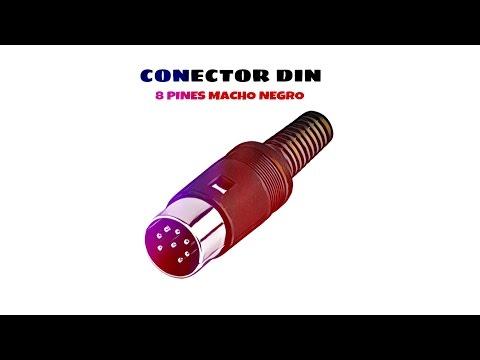 Video de Conector DIN de 8 pines macho  Negro