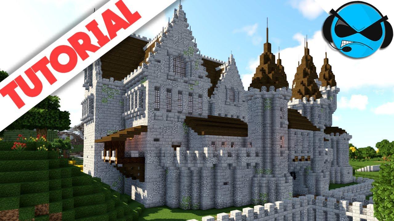 How To Build A Castle Minecraft Tutorial Medieval Castle Part 6