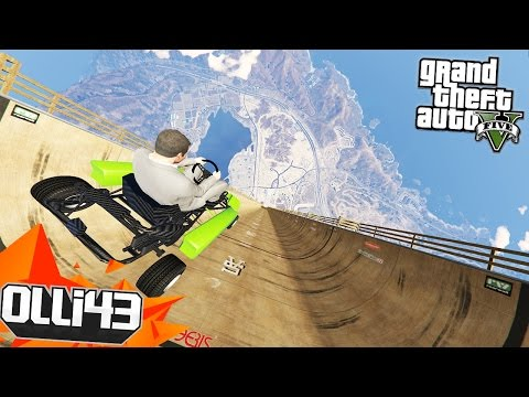 GO KART ATTEMPTS THE MEGA RAMP! GTA 5 Mods Showcase!