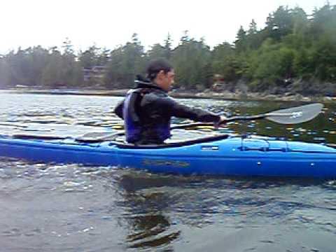 Squinty Double Sea Kayak Roll.AVI