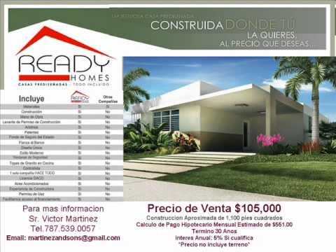 Ready homes casas prefabricadas 3 cuartos 2 banos precio for Fotos de casas prefabricadas