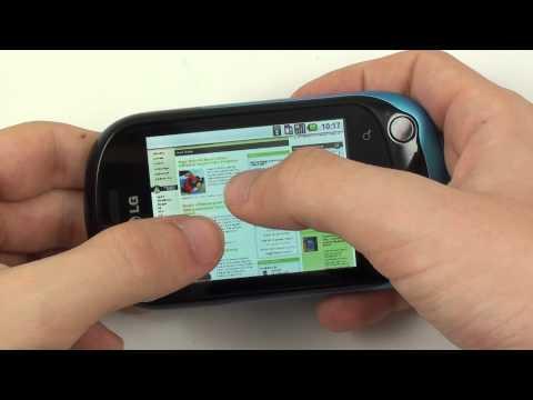 LG Optimus Chat - internetový prohlížeč