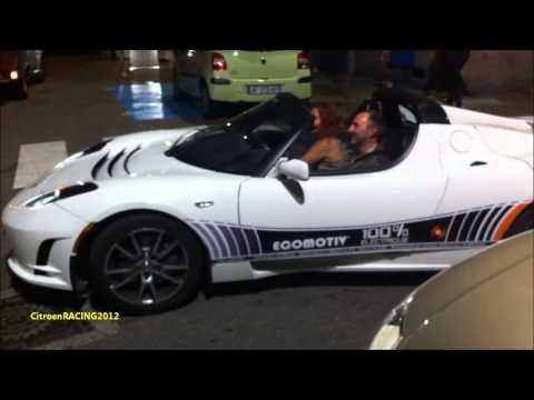 BIG Acceleration - TESLA ROADSTER Sport, Signature Edition  - pure electric car - à Vienne [HD]