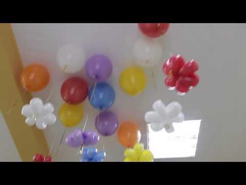 Гелиевые шары с ромашками