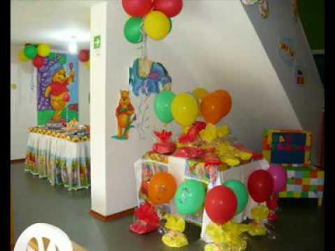 Decoraci n de fiestas infantiles youtube for Decoracion pared infantil