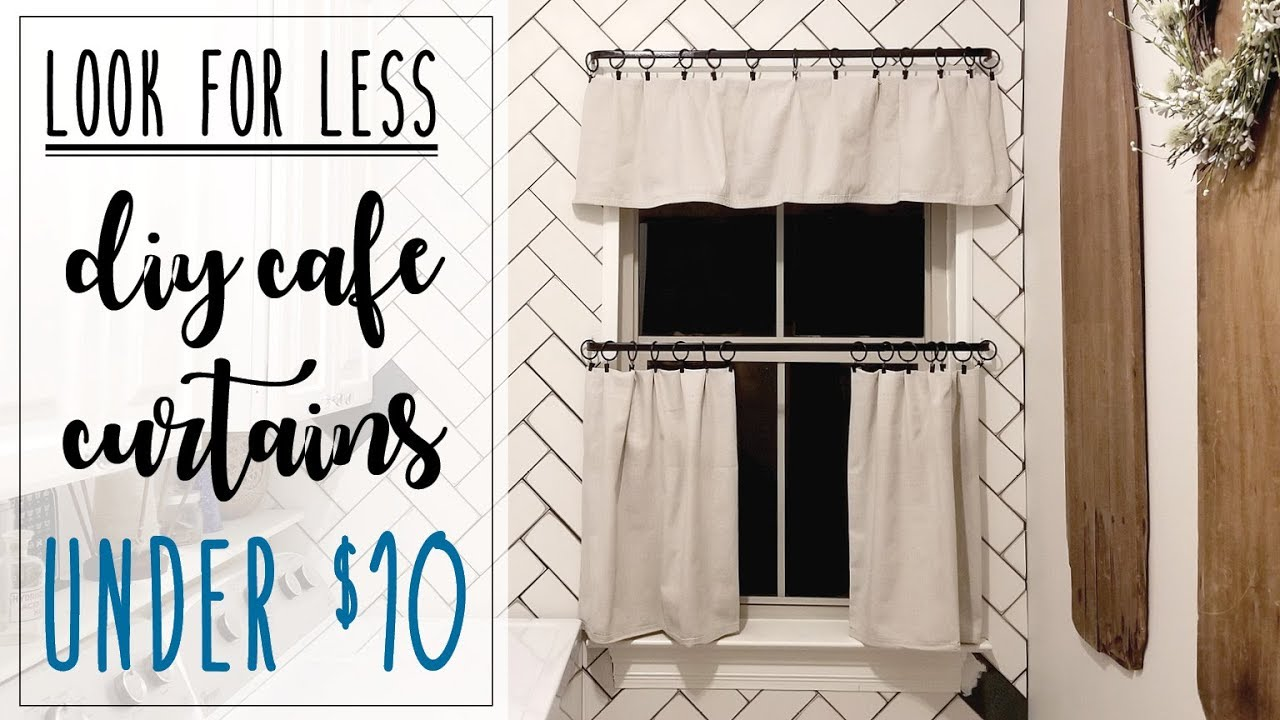look for less diy cafe curtains under 10 no sew easy