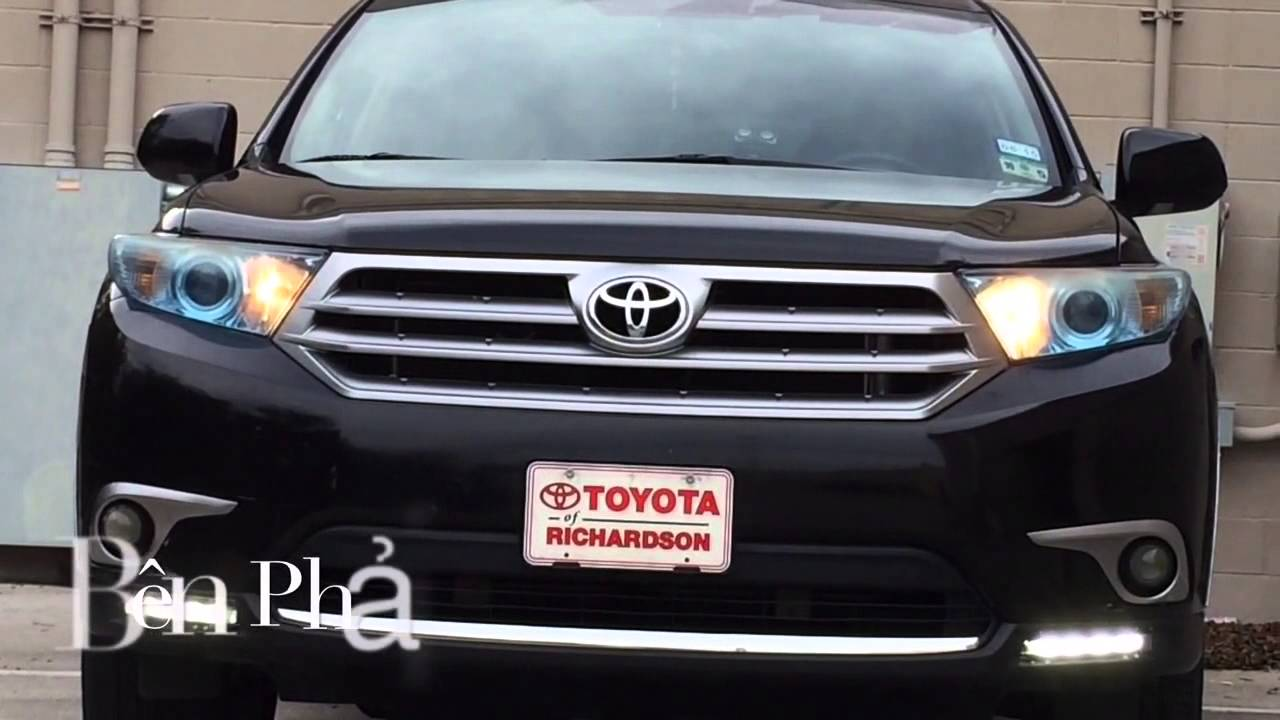 2012 Toyota Highlander Led Running Light Youtube
