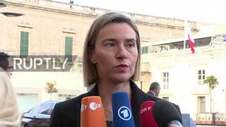 Malta  EU does not believe in walls or bans   says Mogherini