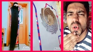 Crazy Indian Tik Tok Videos! Longest Hair, Amazing Dominoes, and Body Piercing!