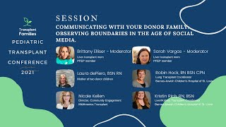 Communicating With Your Donor Family - 2021 Pediatric Transplant Conference