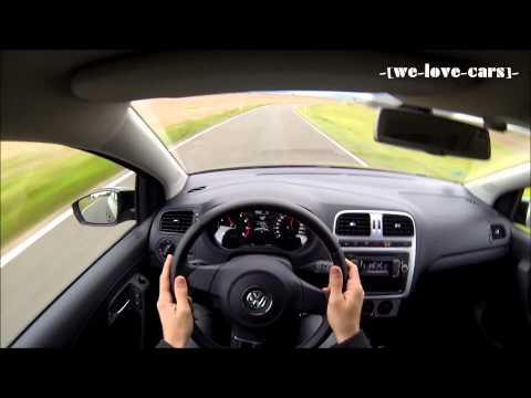 VW Polo 6R 1.4 85PS - On Ride / On Board / Cockpit | -[videotistik]-