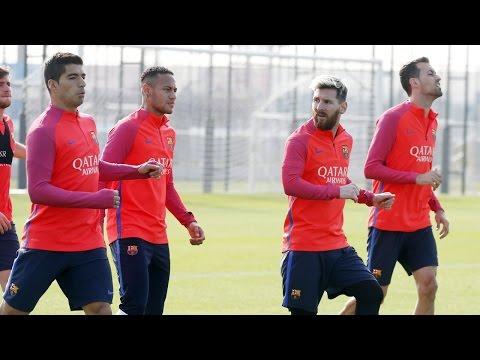 FC Barcelona training session: Preparations for Sevilla underway