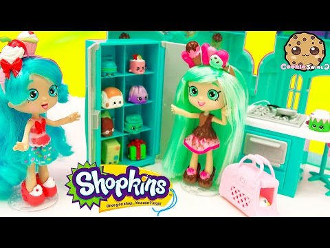 Shoppies Doll Peppa Mint Unboxing Shopkins Season 4 & 3 5 Packs In Fridge - Cookieswirlc Video