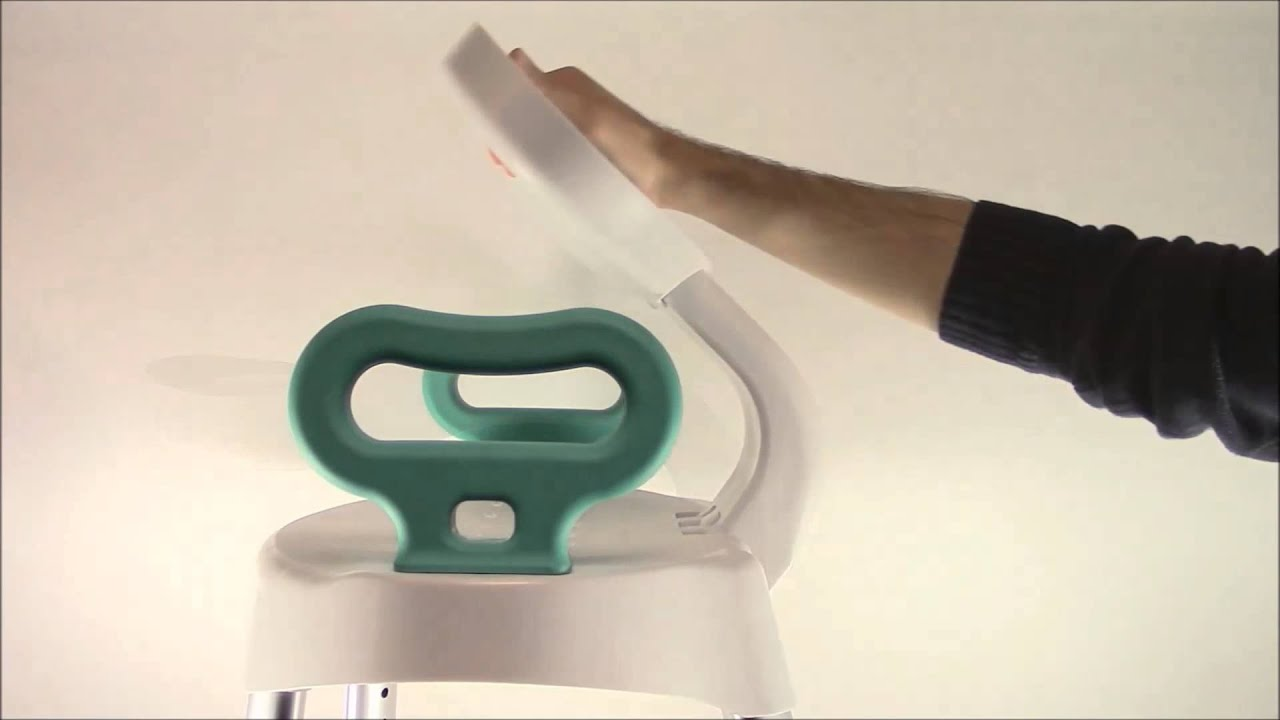 Carex B660 E-Z Bath & Shower Seat With Handles - YouTube