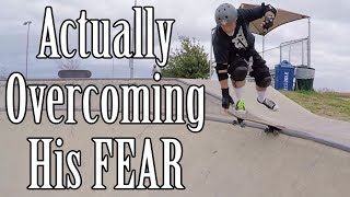 OVERCOMING THE FEAR (Actual Process!) - Sweeper Live Skate Support