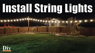 Easiest Way to Install String Lights | Trick to Hanging Yard Lights
