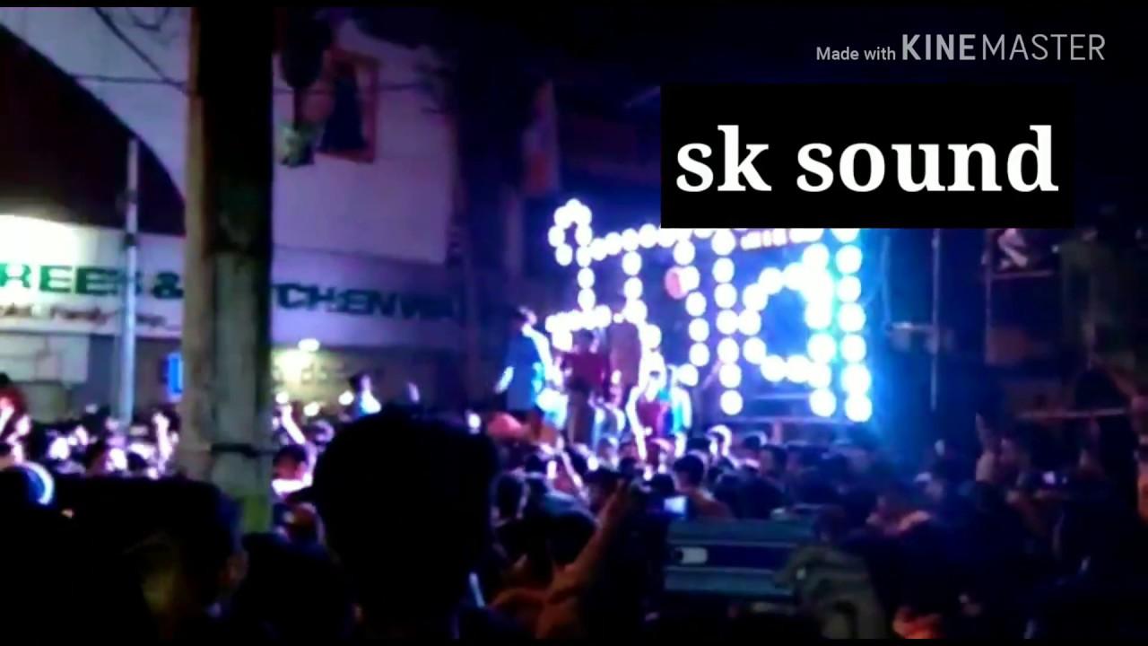 Sk sound Vs DN sound competition at Belgav ganpati visarjan 2018