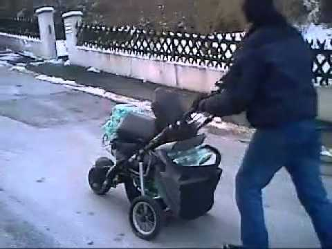 kinderwagen mit e motor video mp4 youtube. Black Bedroom Furniture Sets. Home Design Ideas