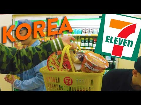EATING AT 7-ELEVEN IN SEOUL (Convenience Stores in Korea) - 2017 World Tour