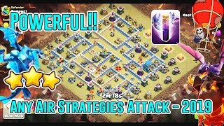 POWERFUL!! ANY AIR STRATEGIES 2019 ATTACK TH12 3-STAR ( Clash of Clans )