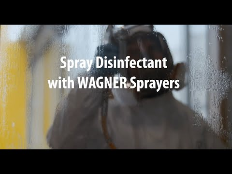 Spray Disinfectant With Wagner Sprayers