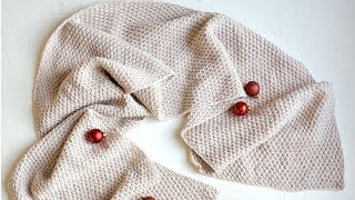 Идеальный двухсторонний шарф. Вязание спицами. Perfect scarf. Knitting.
