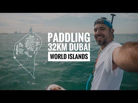 32 km paddling around The World Islands in Dubai 2019