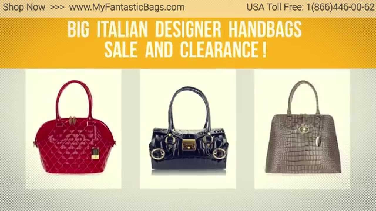 Italian designer handbags Sale and Clearance - YouTube