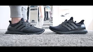 92aaa45e9bbdf adidas ultra boost 3.0 vs 1.0 triple black review unboxing sneakerporn  german