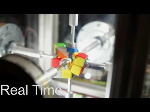 Un robot resolvió en 0,38 segundos el cubo de Rubik