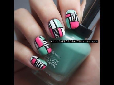 Colorblock Nail Tutorial