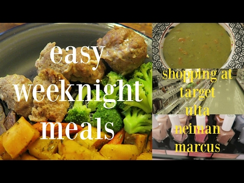 VLOG | Easy Weeknight Meals | Target Ulta Neiman Marcus Shopping Trips | Military Deployment Advice