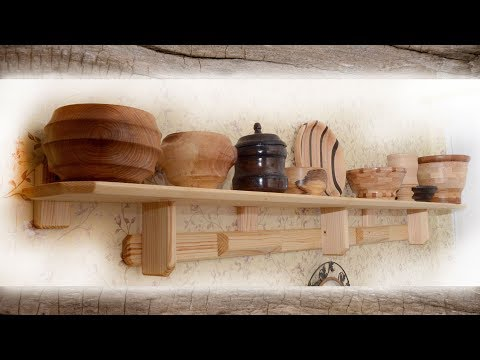 DIY.  Homemade long kitchen shelf.