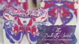 The Butterfly Swirl Cold Process Soap, Handmade in Florida