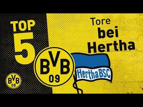 Top 5 Goals | Großkreutz' Bicycle Kick und More | Hertha BSC - BVB