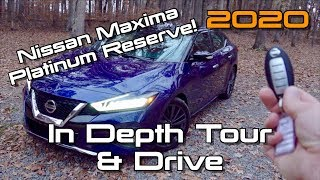 2020 Nissan Maxima Platinum Reserve: Start up, Test Drive & In Depth Tour thumbnail