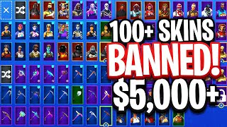 $5000 *BANNED* Fortnite Locker Showcase! Season 1 Skins! (Fortnite RARE Locker)