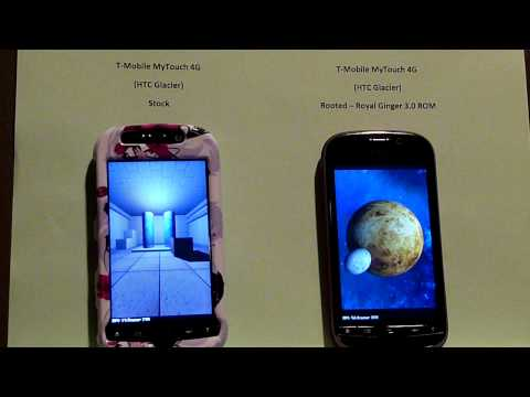 T-Mobile MyTouch 4G - Rooted vs. Unrooted