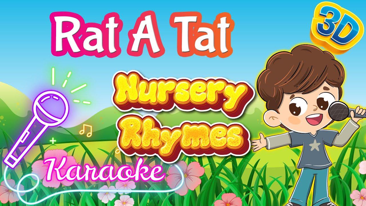 Rat A Tat Poem Sing Along   3D Nursery Rhymes Karaoke   Pre School Songs   Pebbles Rhymes