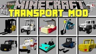 Minecraft TRANSPORT MOD l NOOB vs PRO VEHICLES in MINECRAFT! l Modded Mini-Game