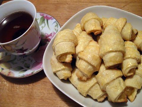 Рогалики с повидлом / Вкусное лакомство к чаю / Пошаговый рецепт
