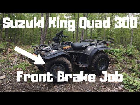 How To: Suzuki King Quad 300 Front Brake Job + Wheel Cylinder Replacement