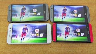 HTC 10 vs M9 vs M8 vs M7 FIFA 16 Gameplay Comparison! (4K)